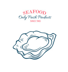 hand drawn oyster icon vector image