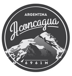 Aconcagua in andes argentina outdoor adventure vector
