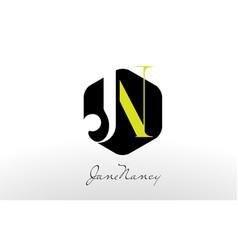 j n logo j n letter design vector image