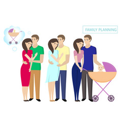 Family planning childbirth control vector