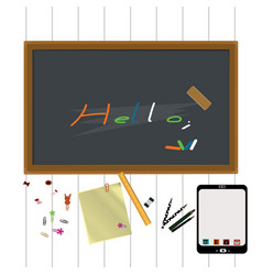 Blackboard with writing vector