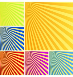Rays backgrounds vector