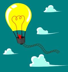 Flying ballon with idea vector