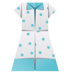 Origami paper ladies summer garments vector
