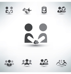 Business people icons set vector