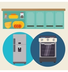Home kitchen icons design vector