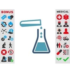 Liquid transfusion icon vector