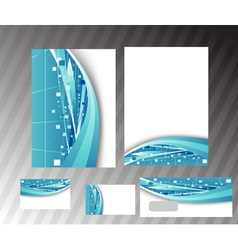 corporate hitech folder vector image