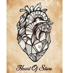 Heart of stone vector