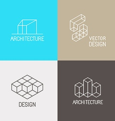 Architecture logos vector image