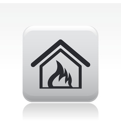 house burning icon vector image
