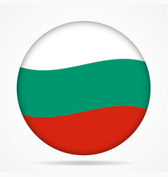 Button with waving flag of bulgaria vector