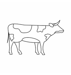 Switzerland cow icon outline style vector