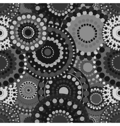 Mechanical seamless pattern black white gray vector