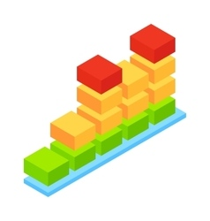Audio wave isometric 3d icon vector image