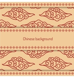 Background decorated chinese pattern vector