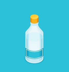 bottle of water icon in flat isometric style vector image vector image