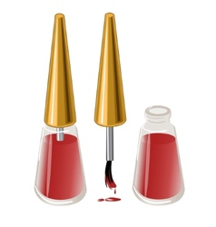 Bottle with red nail lacquer eps10 vector