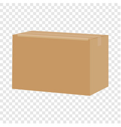 Carton box container mockup realistic style vector