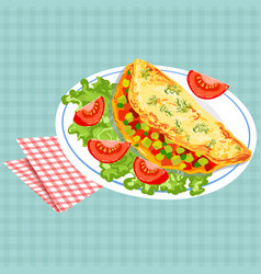 Colorful of tasty breakfast vector