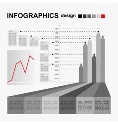 Conceptual blank - monochrome infographics design vector image vector image
