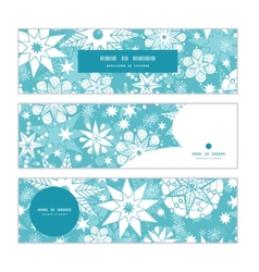 decorative frost Christmas snowflake silhouette vector image