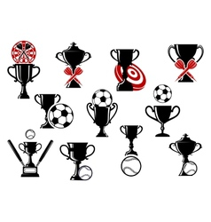 Football or soccer darts baseball competition vector image vector image