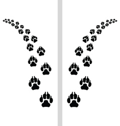 footstep of dog vector image