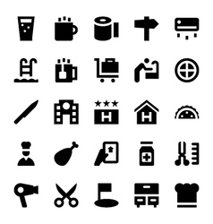 Hotel services icons 2 vector