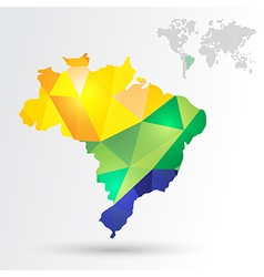 Infographic brazil map vector