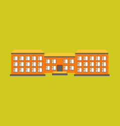 isolated city buildings icon public building vector image vector image