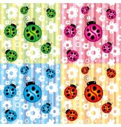 ladybird seamless vector image