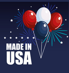 Made in usa design vector
