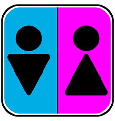 Male and female restroom icons vector image