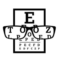Myopia icon simple style vector