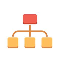 organization flat icon vector image vector image