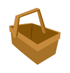 picnic basket or picnic for food vector image
