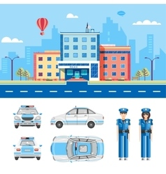 POLICE STATION 2 vector image