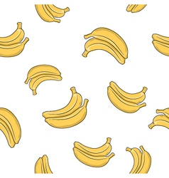 Seamless pattern of banana vector