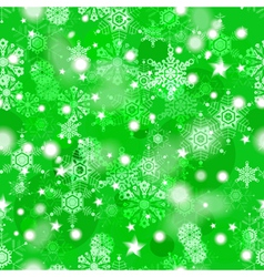 Shiny green winter seamless pattern vector