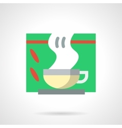 Tea for colds flat color icon vector