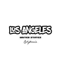 United states los angeles california city vector