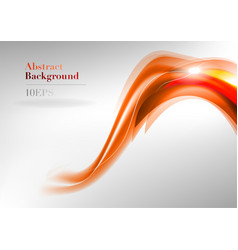 wave neon light white curve orange and red vector image vector image