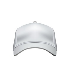 White Baseball Cap Isolated on White Background vector image