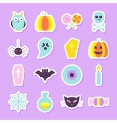 Halloween Party Stickers Set vector image