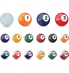 pool icons vector image