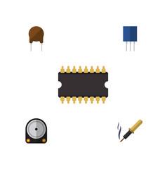 flat electronics set of repair triode vector image