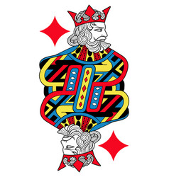 King of diamonds isolated french version vector