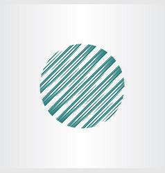 Abstract circle globe logo element vector