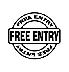 Thin line free entry icon vector